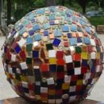 Mosaic yard sphere